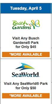 Super dica para economizar em ingressos para parques temáticos: + de 40% de desconto nos parques Busch Gardens e Sea World
