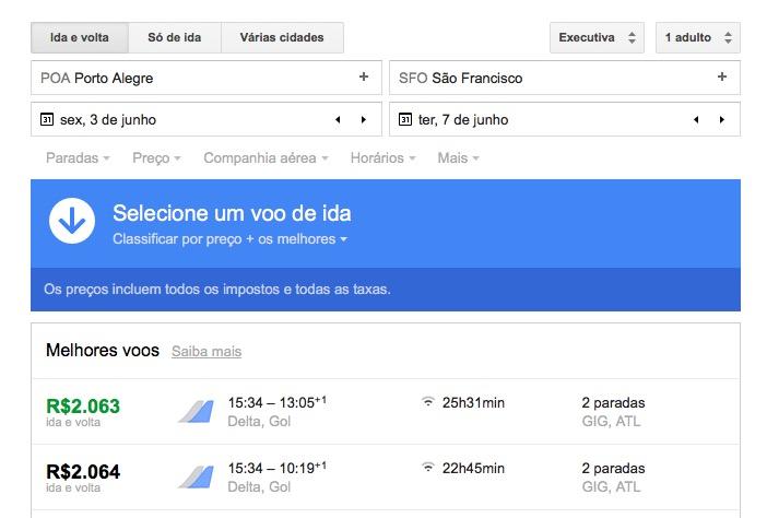 ALERTA DE TARIFAS! Porto Alegre – San Francisco via Delta, em executiva, por R$ 2k, com taxas incluídas
