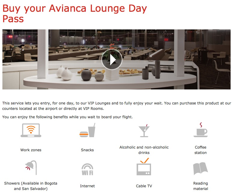 Avianca Day Pass