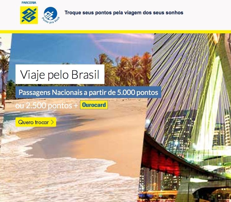 Banco do Brasil cria plataforma especial de troca de pontos por passagens aéreas