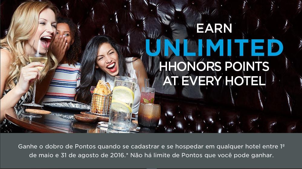 Hilton Honors lança promoção que oferece o dobro de pontos… com página em português!