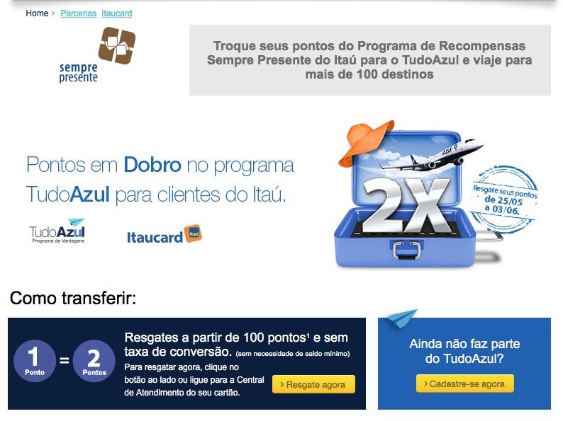 A escalada dos bônus não para: 100% de bônus dos cartões Itaú para o Tudo Azul