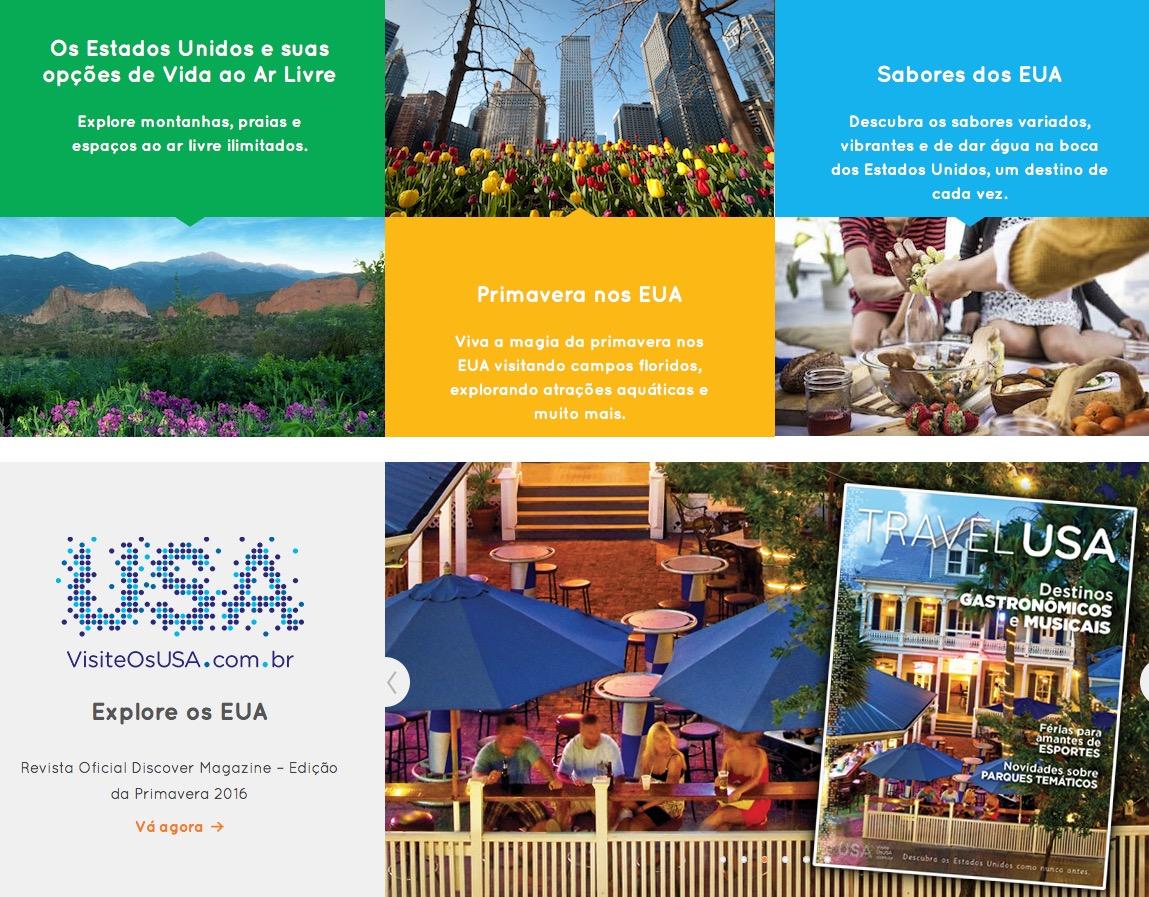 Dica do dia: site Visite os Estados Unidos (Guia Oficial)