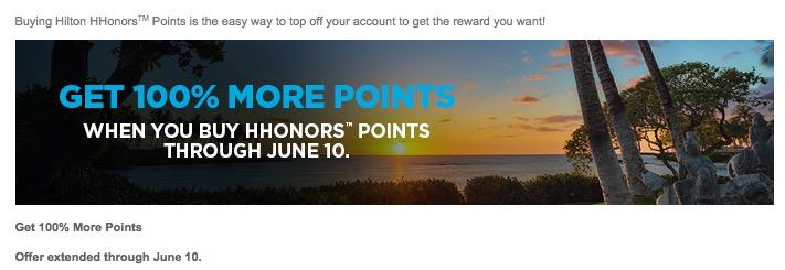 Última chamada: compra de 320.000 pontos Hilton Honors por R$ 6.297,69.