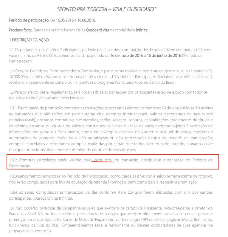 """""""Brecha"""" na promoção do BB """"gaste R$ 10 mil, ganhe 20 mil pontos"""": compras parceladas contam pelo valor *TOTAL* da transação"""