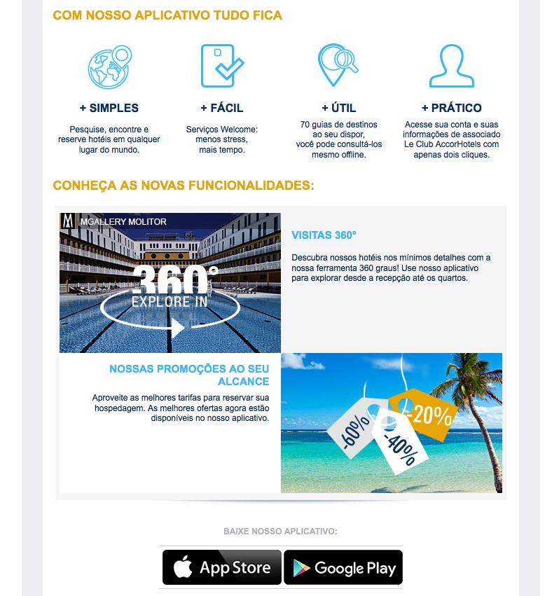 Accor lança nova versão do app para iPhone e Android