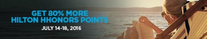 Hilton Honors oferece nova promoção de compra de pontos com 80% de bônus. 144k pontos por R$ 2.978,64.