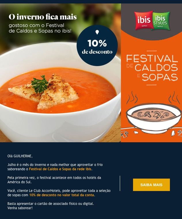 Mix das Milhas Accor: Festival de sopas Ibis c/ 10% de desconto, Pontos em Quádruplo para novos hotéis, Dream Stays Sofitel Cartagena