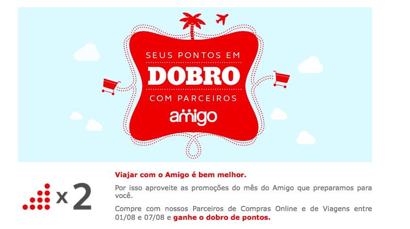 Amigo Avianca oferece o dobro de pontos em parceiros não aéreos (cartões de crédito excluídos)