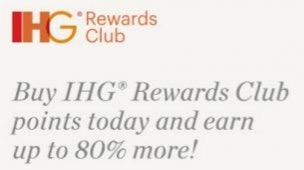 IHG tem promoção de compra de pontos com até 80% de bônus