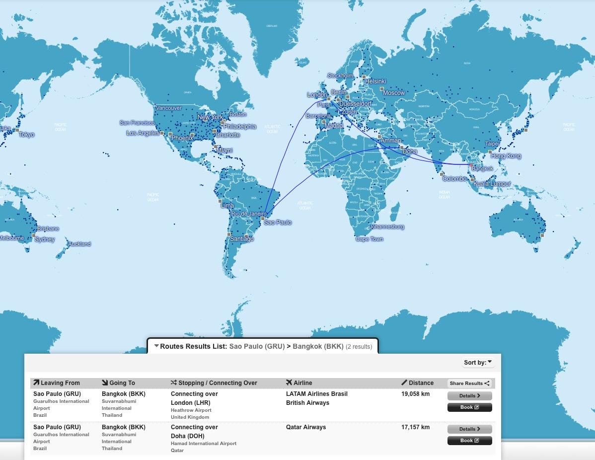 Mapas interativos Innosked One World, Star Alliance e Delta: ferramentas úteis para planejamento de viagens!