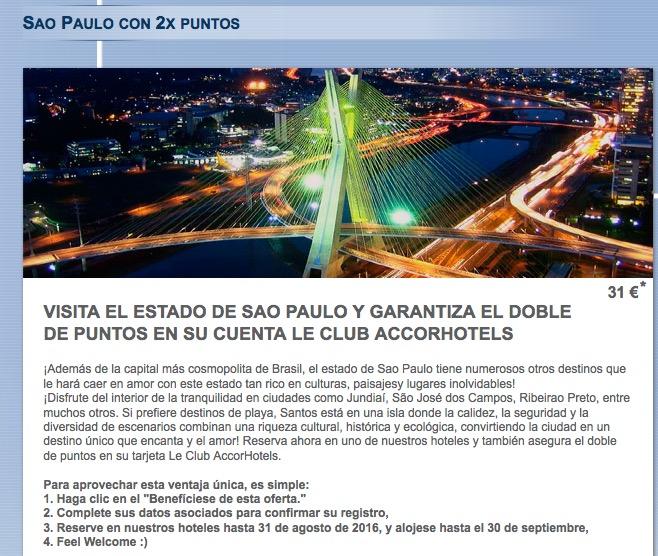 Ganhe o dobro de pontos em hospedagens no Estado de São Paulo em agosto e setembro