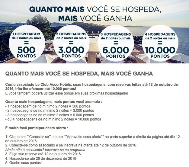 Valendooo!!!! Accor oferece bônus de 10.000 pontos Le Club (200 euros ou ˜R$ 800) após 4 estadias de 2 noites cada! MAIS UMA VEZ! Vouchers e pontos não podem ser utilizados! :-(