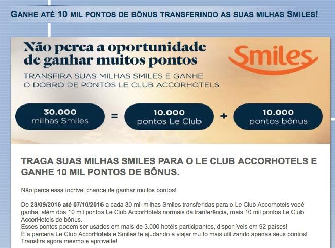 A melhor promoção Le Club desde a época do Pague Contas! Ganhe 20 mil pontos Le Club a cada 30 mil milhas Smiles transferidas!