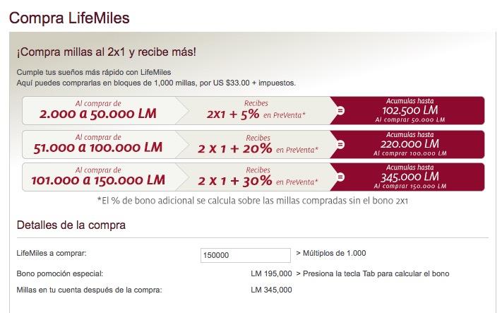 Nova promoção de compra de milhas do LifeMiles, da Avianca Internacional. 345 mil milhas por R$ 18.430,33. Tá melhorando….rsrs