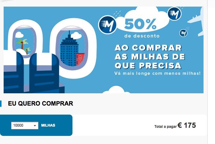 Victoria TAP oferece desconto de 50% nas compras, transferências e renovação de milhas. Mas o preço… :-(