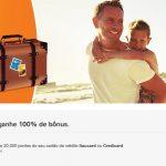 Smiles com 100% de bônus para cartões Itaucard e Credicard, nas transferências acima de 20 mil pontos
