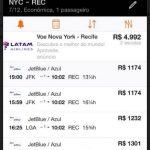 ALERTA DE TARIFAS! Passagens em classe econômica, de Nova York para Recife (só a perna de ida), por R$ 1.173,02, *COM TAXAS INCLUÍDAS*!