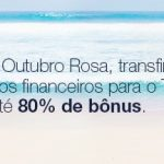 Tudo Azul com bônus de 70% e 80% nas transferências de pontos de cartões de crédito