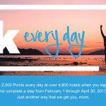 Promoção trimestral Hilton Honors dá bônus de 2 mil pontos por dia de hospedagem