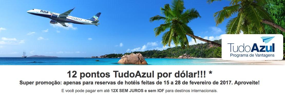 Hoteis Tudo Azul 12x