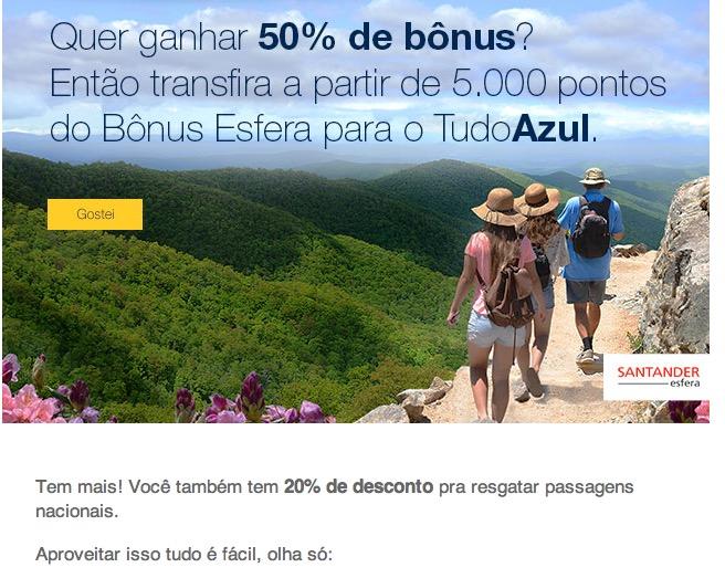 Bonus 50 San Tudo Azul