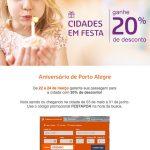 Mix: Clube Livelo Bradesco 50% de desconto na compra de pontos; Gol 20% desconto viagens Porto Alegre