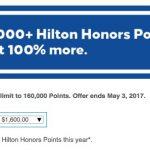 Hilton Honors lança nova promoção de 100% na compra de pontos. 320 mil pontos por R$ 5.787,07