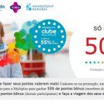 50% ou 55% de bônus no Multiplus Fidelidade para transferências oriundas dos cartões Bradesco