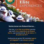 Le Club oferece troca de pontos por pacotes promocionais para Roland Garros, com ingresso e almoço – versão 2017