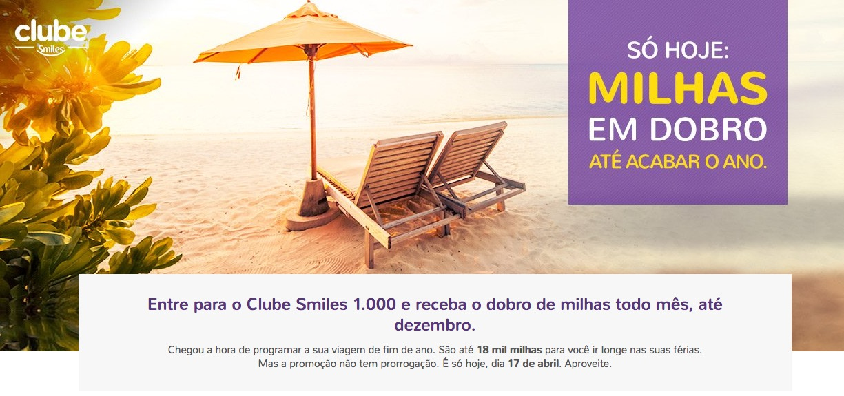 Clube Smiles 1k dobro
