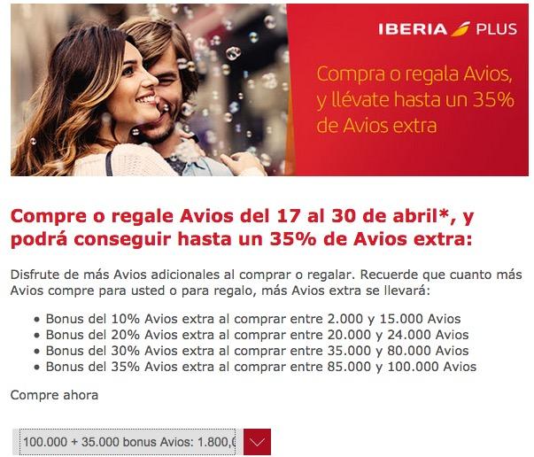 Compra Avios 1800 eur 135k