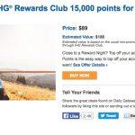 Mix: Daily Getaways oferta IHG, Clientes Tudo Azul Itaucard comprando pontos com desconto (R$ 28 o lote de 1.000 pontos), Transferência de pontos entre contas Tudo Azul com 100% de bônus (promo Tabajara)