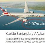Pedidos dos cartões de crédito Santander AAdvantage com primeira anuidade grátis prorrogados até 7 de maio de 2017