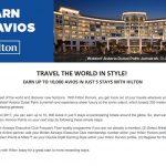 Ganhe 10 mil Avios com 5 hospedagens em hotéis Hilton