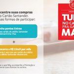 """Nova promoção de pontos (até) em triplo do Santander: a novidade é que é o cliente quem escolhe a """"meta"""" de compras"""