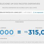 Compra de lotes de 10 mil pontos Multiplus Fidelidade por R$ 280 (mensalistas do Clube) ou R$ 315 (demais)