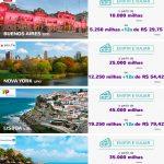 Nova promoção Essa É Pra Voar Smiles tem trechos a milhas reduzidas para Buenos Aires (10k o trecho), Nova York (25k), Lisboa (45k), Cancún (35k), e Dubai (60k)