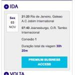 ALERTA DE TARIFAS! De diversas cidades brasileiras para África do Sul, voando LATAM, em classe executiva, a partir de R$ 3.945,24, *COM TAXAS INCLUÍDAS*!