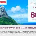 Bônus de 80% nas transferências do Santander para Tudo Azul e/ou Smiles