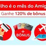 Bônus de 100% ou 120% nas transferências dos cartões Santander, Pan (Pan!?) e Caixa, para o Amigo Avianca. Huuummm…..seeeiiii……