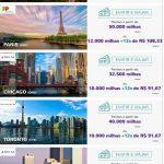 Nova promoção Essa É Pra Voar (EPV) Smiles tem trechos a milhas reduzidas para Nova York (25k o trecho), Paris (50k), Chicago (32,5k), Toronto (40k), e Atlanta (27,5k)