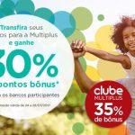 """Bônus 30% ou 35% dos cartões de crédito para o Multiplus, para quem """"recebeu o email com a oferta"""""""