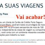 Porto Seguro deixará de oferecer o Priority Pass para os portadores dos cartões Mastercard Black