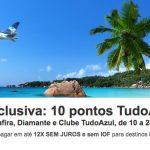 Clientes Safira, Diamante e Clube Tudo Azul acumulam 10 pontos por dólar no Hotéis.com