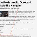 Não tá fácil pra ninguém: BB dando isenção de anuidade no primeiro ano para cartões de crédito Ourocard Estilo Elo Nanquim