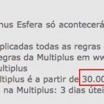 Transferências mínimas do Santander para o Multiplus aumentam de 15 mil para 30 mil pontos