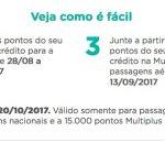 Points Back: transfira a partir de 10 mil pontos de cartões de crédito para o Multiplus, e receba 50% dos pontos de volta, até o limite de 15 ou 10 mil pontos
