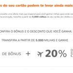 Bônus 60% cartões de crédito para Smiles + 20% desconto passagens Copa