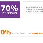Bônus Livelo 50% ou 70% para o Smiles + 20% de desconto Emirates